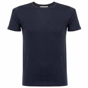 Merz B Schwanen 1950's Organic Cotton Ink Blue T-Shirt