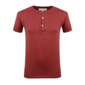 Merz B. Schwanen Button Facing Dark Red Shirt 207