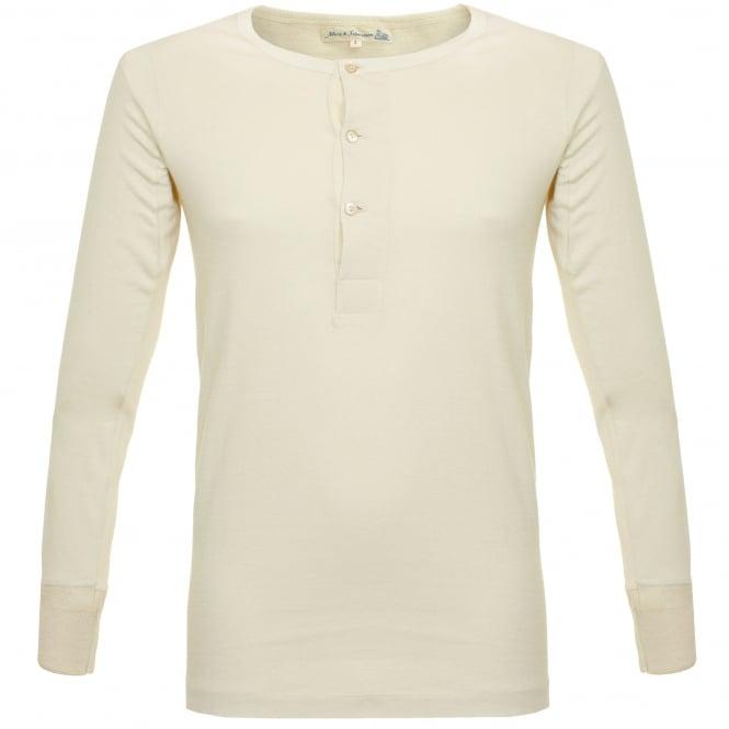 Merz b Schwanen Merz B. Schwanen Button Facing Nature Henley T-Shirt 206