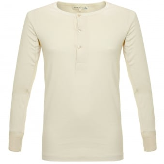 Merz B. Schwanen Button Facing Nature Henley T-Shirt 206