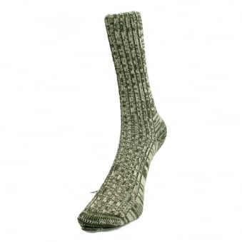 Merz B. Schwanen Two Thread Army Green Sock 271