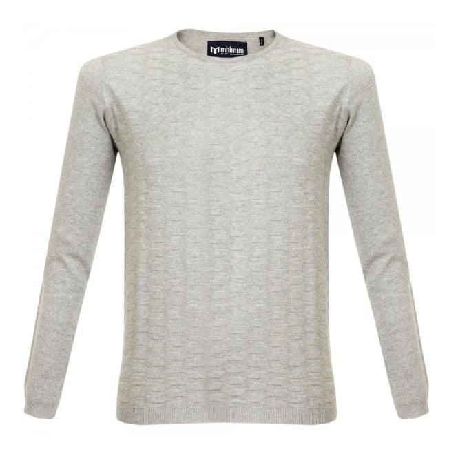 Minimum Basra Knit Light Grey Melange Jumper 10930 040