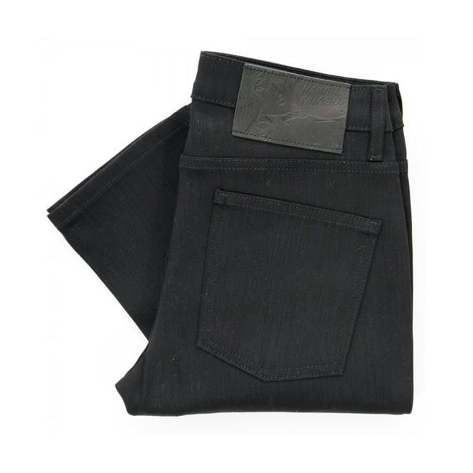 Naked and Famous Denim Naked and Famous Black Super Skinny Stretch Denim 013010 | Tapered Leg
