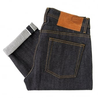 Naked and Famous Left Hand Twill Weird Guy Indigo Denim Jeans 012773