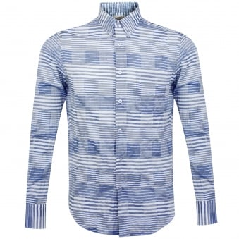 Naked and Famous Windowpane Blue Shirt 120105724