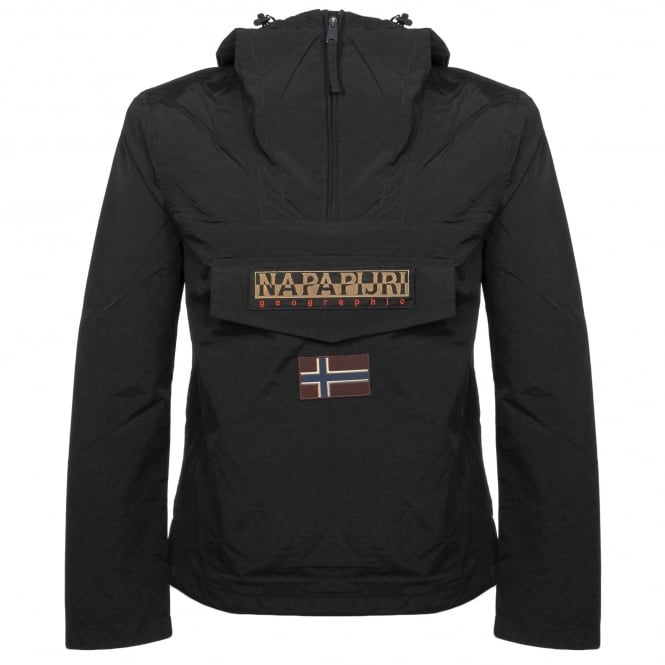 Napapijri Rainforest M Sum Black Cagoule Jacket N0YH0B041