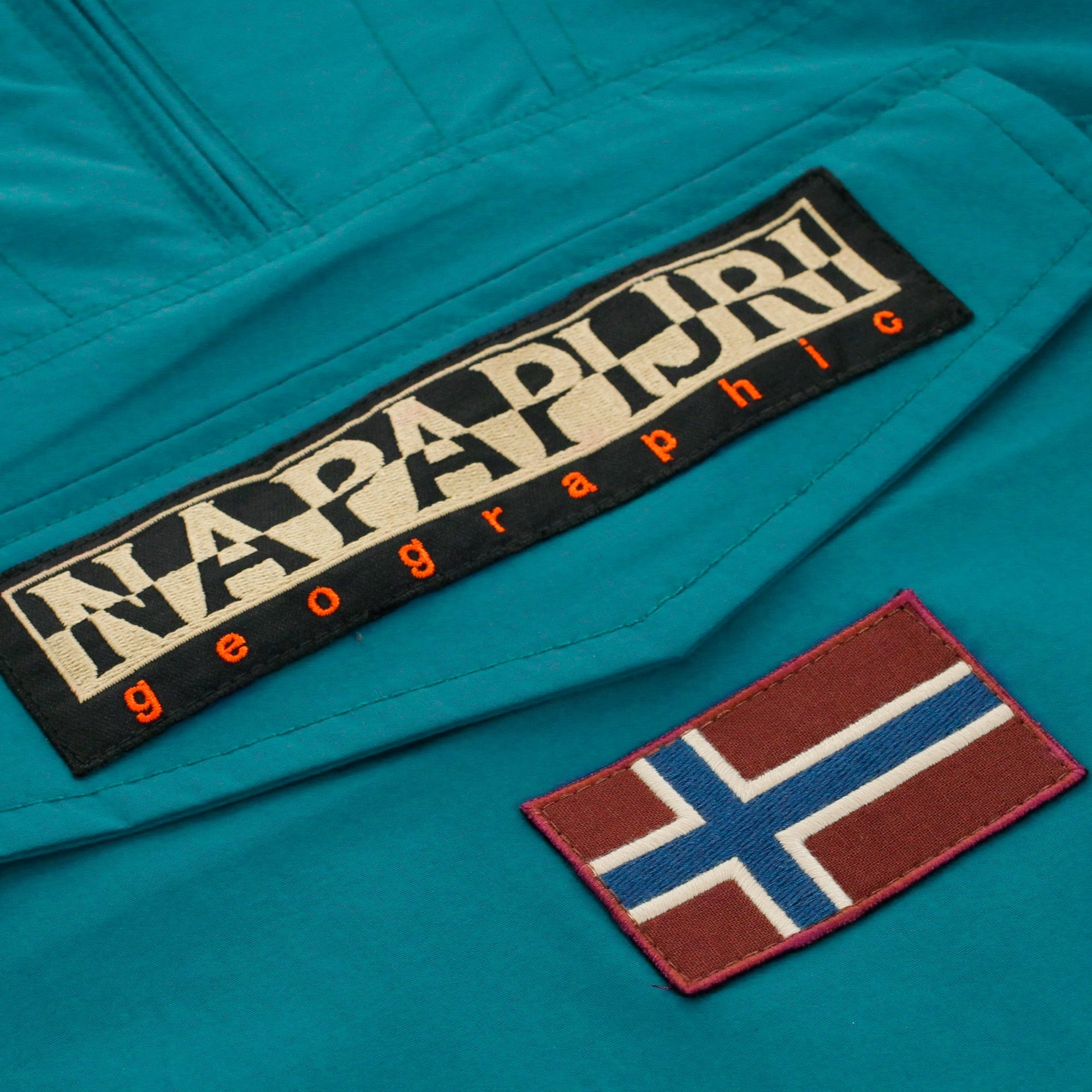 Napapijri Rainforest Summer Caribbean Blue Cagoule Jacket