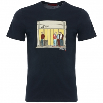 Navy 80s Casuals X Stuarts 50th Anniversary T-Shirt