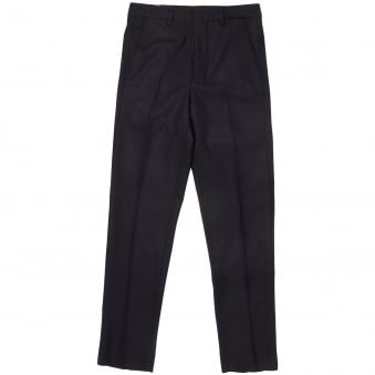 Navy Carrot Fit Tailored Trousers