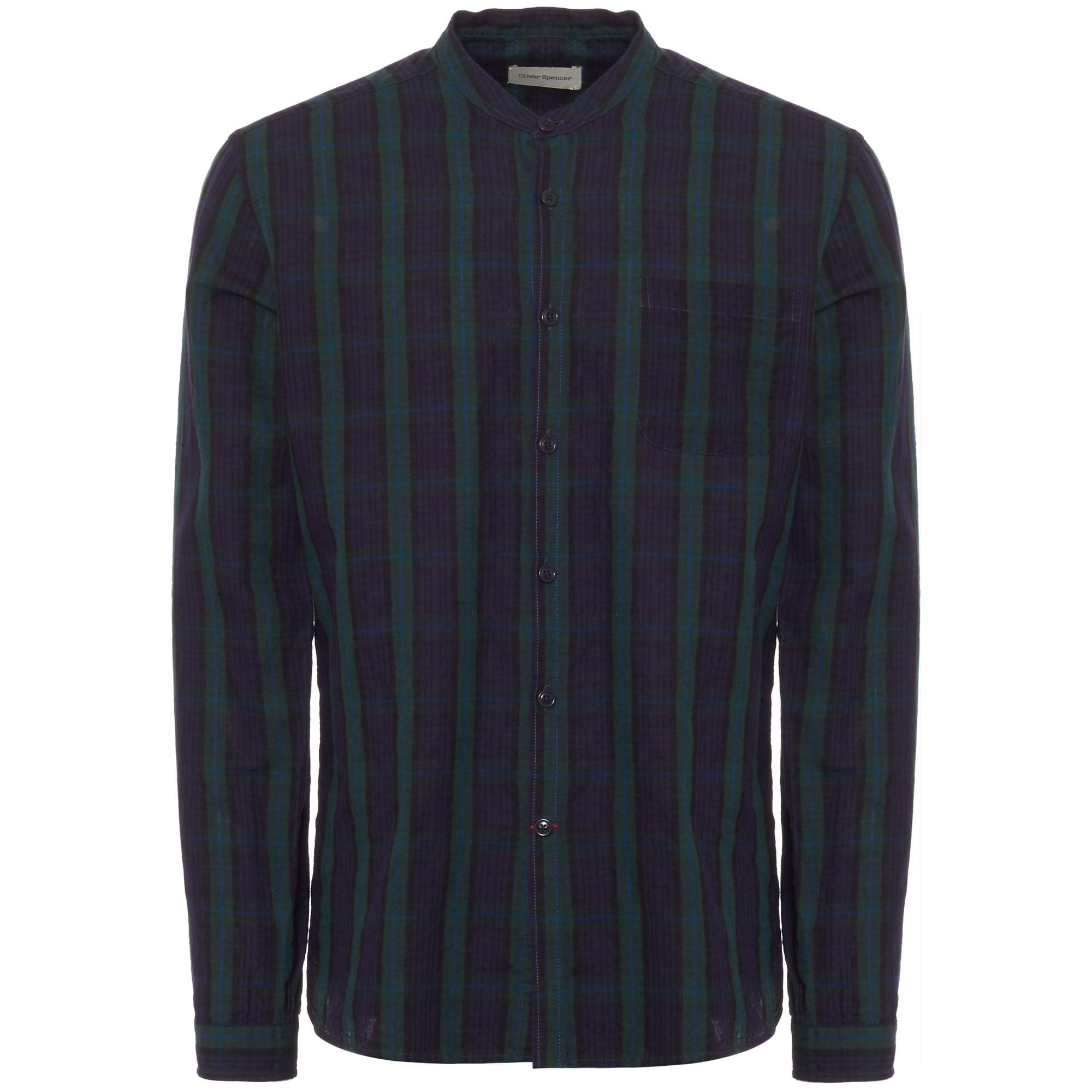 f99f34398c Brushed Cotton Grandad Shirts - Cotswold Hire