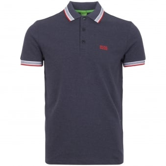 Navy Knitted Pique Polo Shirt