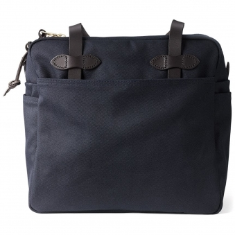 Navy Tote Bag With Zipper
