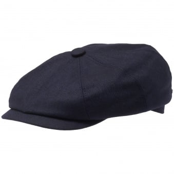 Navy Wool and Silk Hatteras News Boy