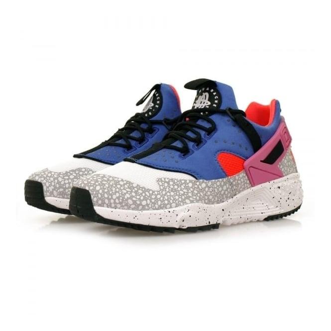 Nike Air Huarache utility PRM White Blue Shoes 806979 104