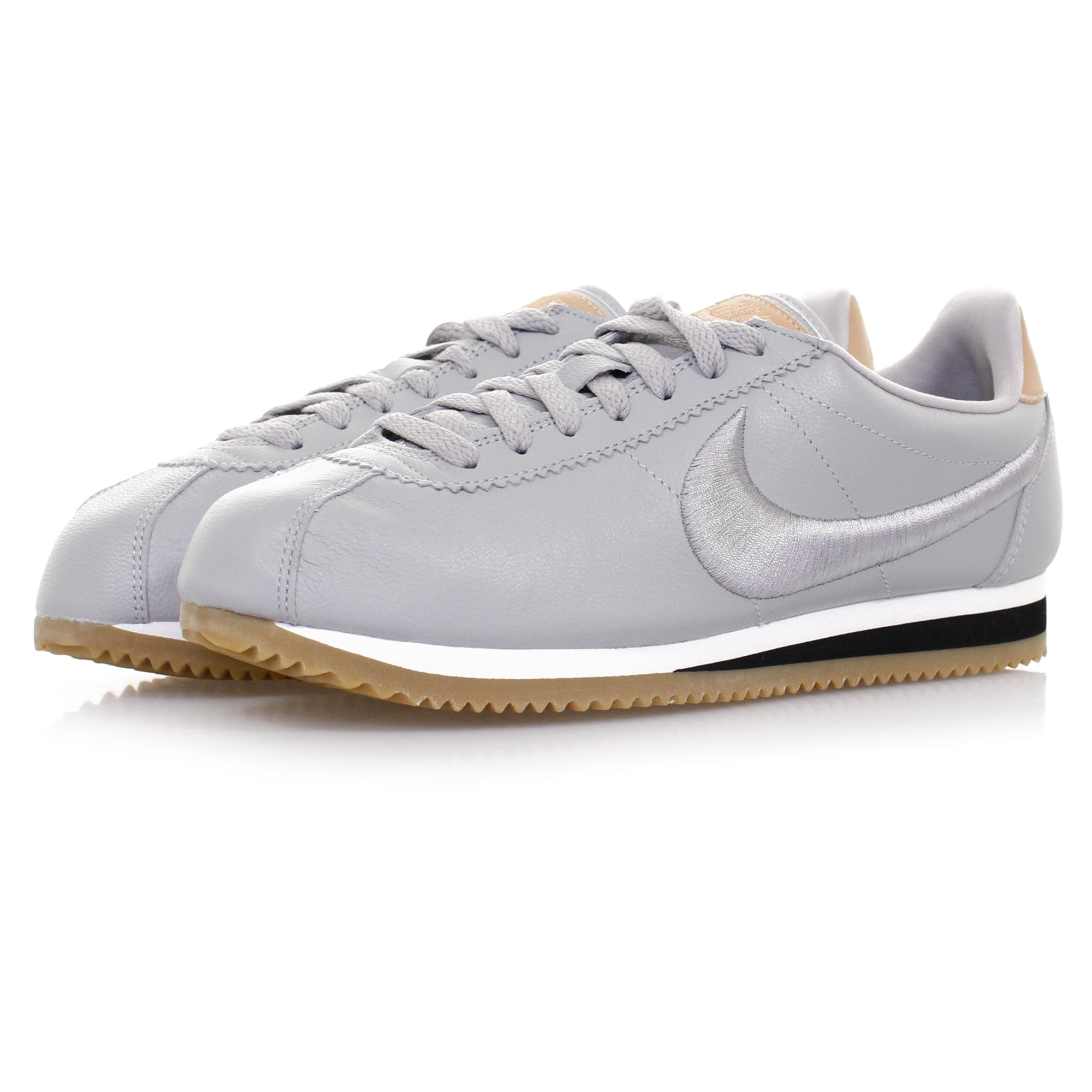 nike sneakers classic cortez leather wolf grey shoe. Black Bedroom Furniture Sets. Home Design Ideas