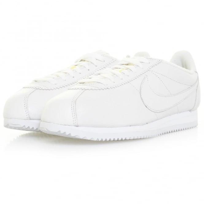 Nike Classic Cortez Premium White Leather Shoe 807480 100
