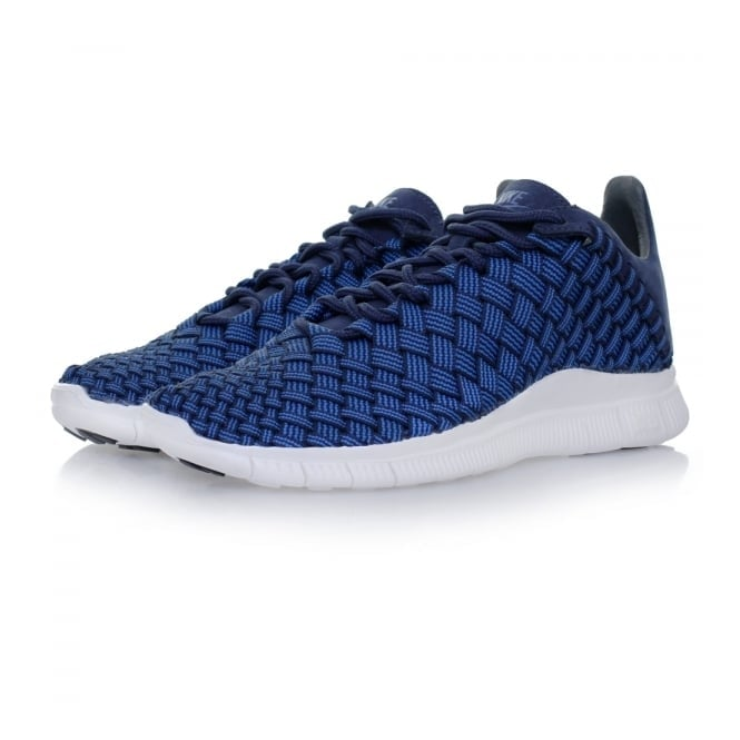 Nike Free Inneva Woven Fountain Blue Navy Shoe 579916 402