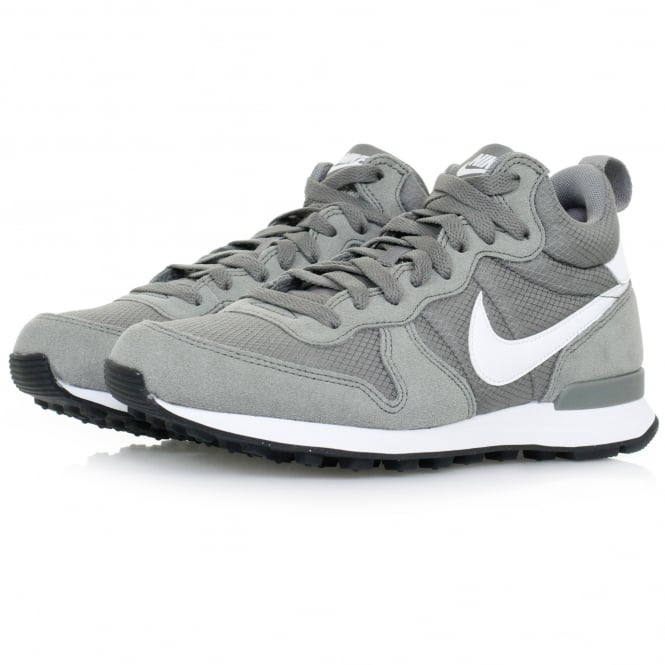 Nike Internationalist Mid Leather Tumbled Grey Shoe 859478-002
