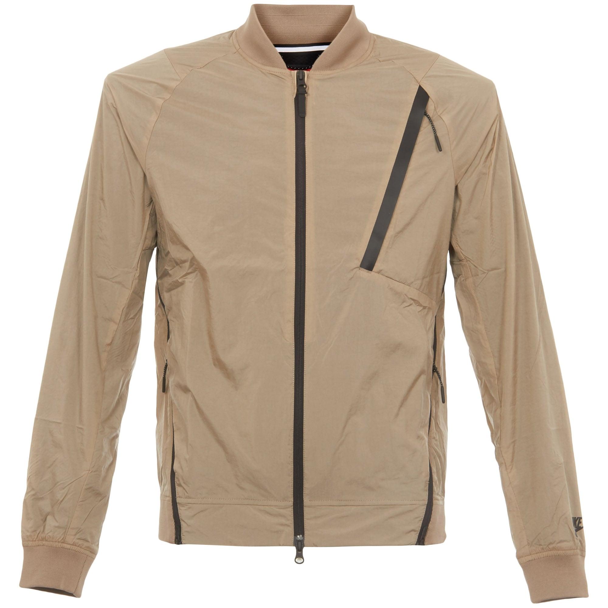 Khaki Hypermesh Varsity Jacket