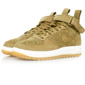 Nike Lunar Force 1 Flyknit Golden Beige Workboot 855984 200