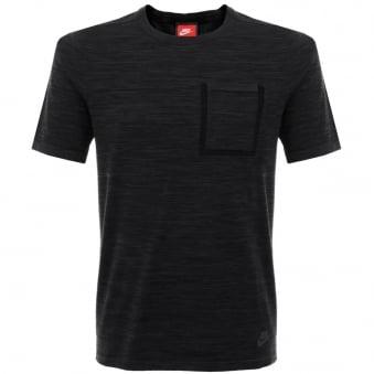 Nike Tech Knit Black Grey Pocket T-Shirt 729397-010