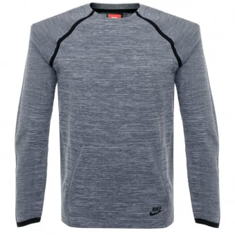 Nike Tech Knit Crew Grey LS T-Shirt 728673