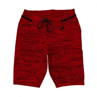 Nike Tech Knit Red/Black Shorts 728675671