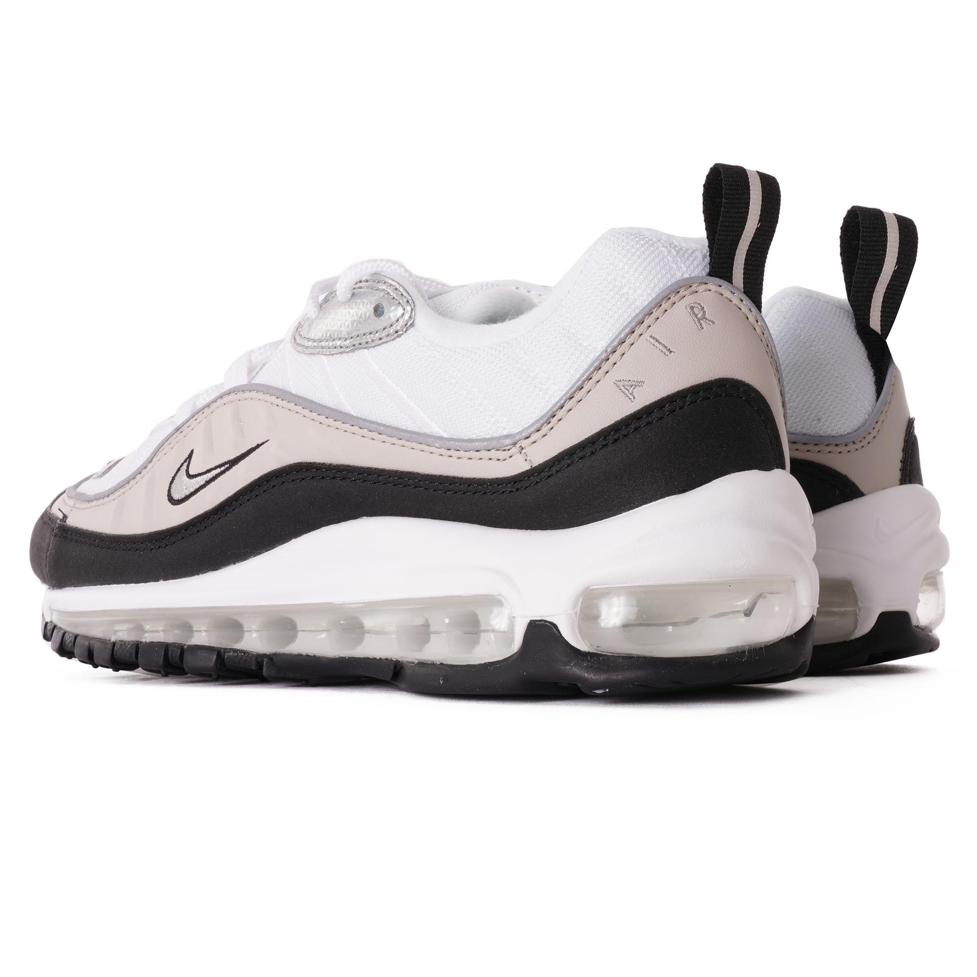 Nike Womens Air Max 98 White Silver Ah6799 116