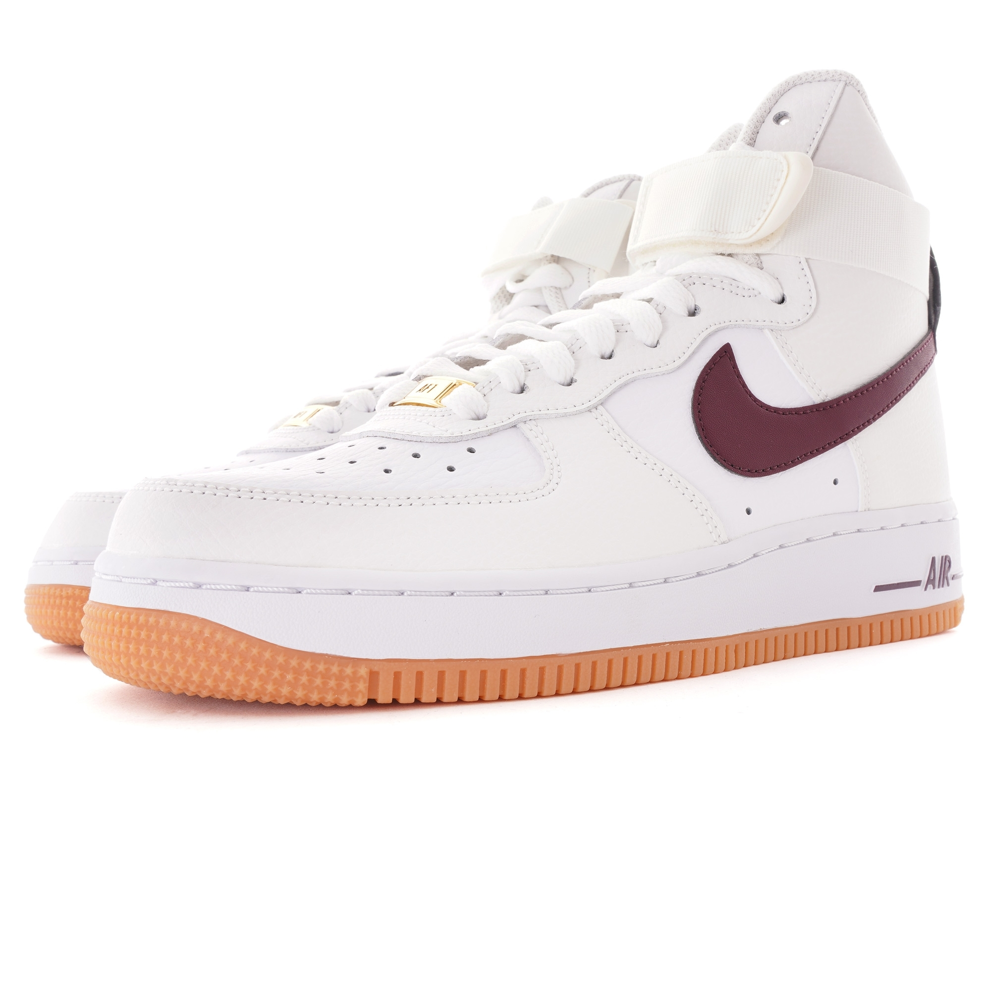 Nike Women S Air Force 1 High White Maroon 334031 113