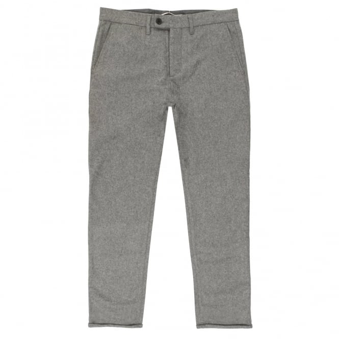 Norse Projects Thomas Slim Grey Melange Wool Trousers N25-0204