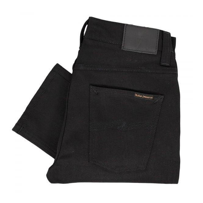 Nudie Jeans Grim Tim Black Ring Denim Jeans 111239
