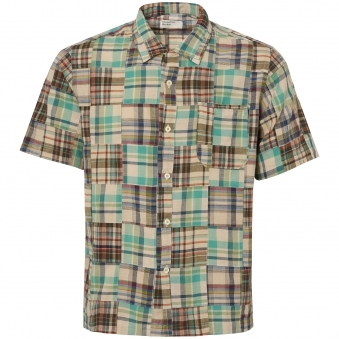 Olive Patchwork Road Shirt