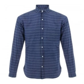 Oliver Spencer Eton Bradley Blue Shirt OSS69B