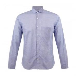 Oliver Spencer Eton Collar Lancaster Blue Striped Shirt OSS69B