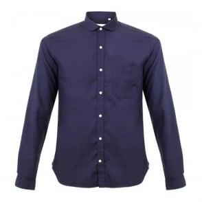 Oliver Spencer Eton Collar Navy Shirt OSS69B