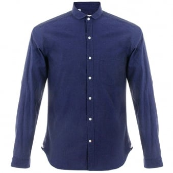 Oliver Spencer Eton Herne Navy Shirt OSS69B