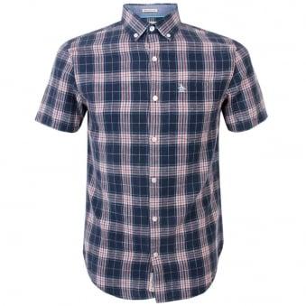 Original Penguin Check Dress Blue Shirt OPWS5179