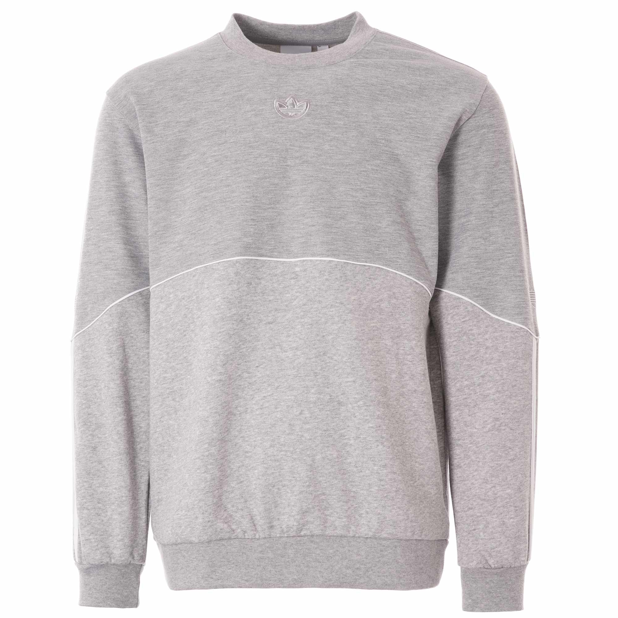 adidas Originals Outline Crew Sweatshirt Grey