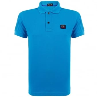 Paul And Shark Cool Touch Teal Polo Shirt E15P0989