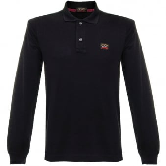 Paul and Shark LS Pique Black Polo Shirt C1P11099SFI