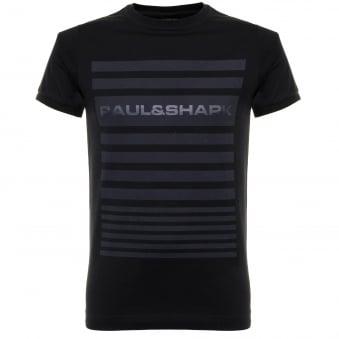 Paul and Shark Printed Navy T-Shirt I16P1631SF