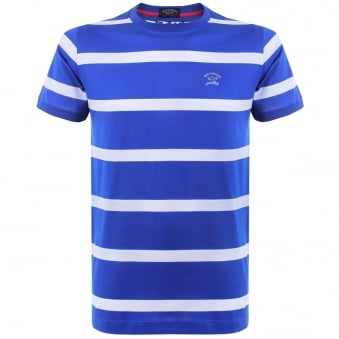 Paul and Shark Stripe Cobalt Blue T-Shirt E15P0148
