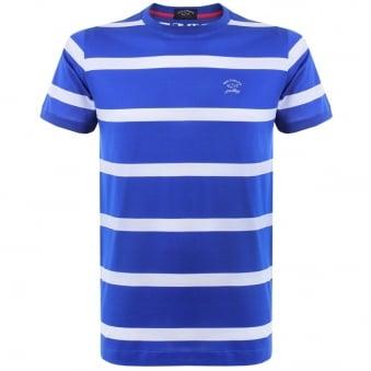 Paul and Shark Stripe Cobalt Blue T-Shirt E15P0148