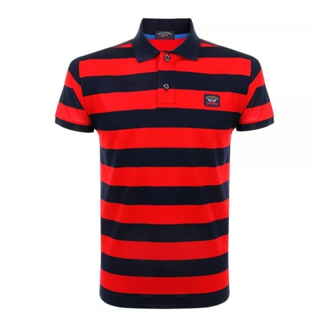 Paul and Shark Yachting Paul and Shark Striped Navy Polo Shirt E15P0083