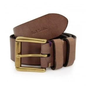 Paul Smith Double Keeper Brown Leather Belt AKXA-2528-B154A