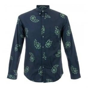 Paul Smith Jeans Navy Paisley Large Print Shirt JLFJ-054N-521