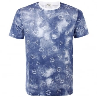 Paul Smith Prism Indigo T-Shirt JLCJ-5501-P7336