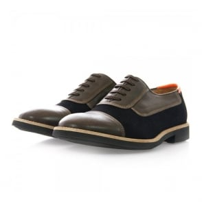 Paul Smith Shoes Almoral Dark Navy - Brown