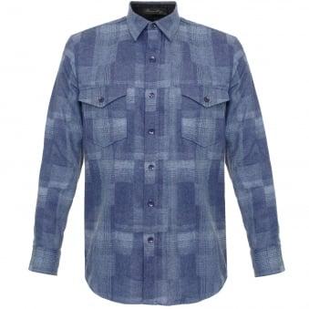 Pendleton Boro Blue Virgin Wool Shirt AA552-31865