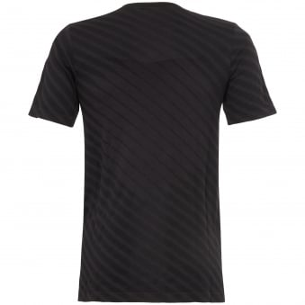 Performance Black Seamless Short Sleeve T-Shirt